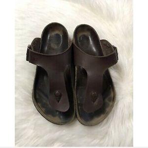 Birkenstock Gizeh Leather Footbed Thong Sandals-11
